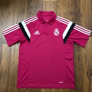 adidas Mens Real Madrid ClimaLite Polo